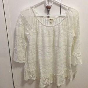 Style and co NWT lace blouse 3/4 sleeve sz medium